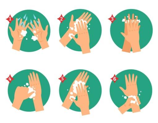 Các bước rửa tay diệt khuẩn theo chuẩn 6 bước từ Bộ Y Tế